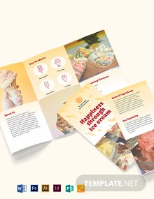 Ice Cream Tri-Fold Brochure Template