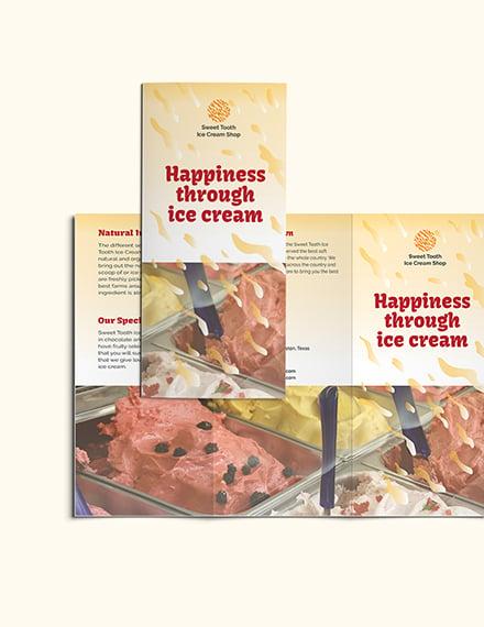 Sample Ice Cream Trifold Brochure