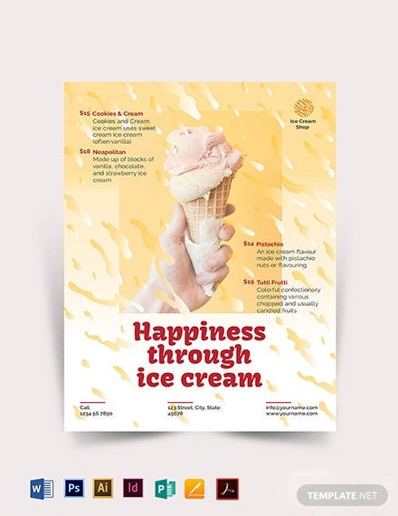 Ice Cream Flyer Template