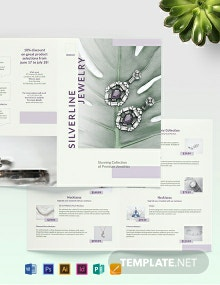 Jewelry Boutique Bi-Fold Brochure Template