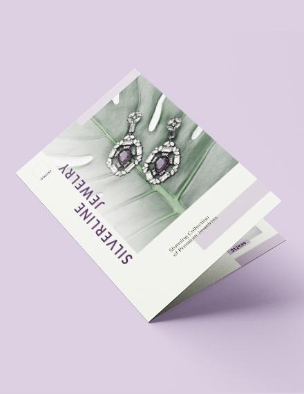 Jewelry Boutique Bi-Fold Brochure Template