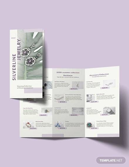 Jewelry Boutique Tri-Fold Brochure Template