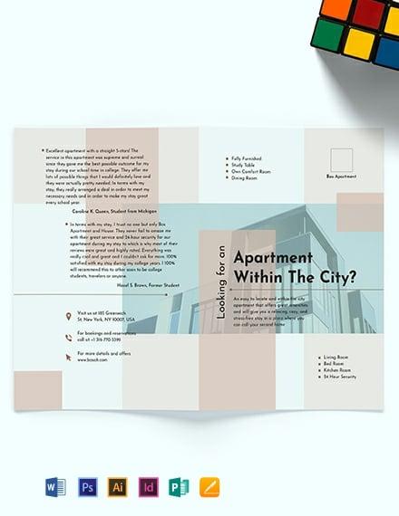 Apartment Bi-Fold Brochure Template