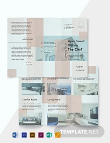 Apartment Tri-Fold Brochure Template