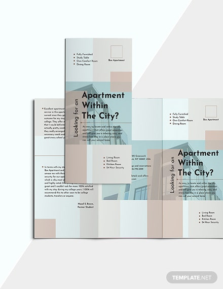 Sample Apartment TriFold Brochure