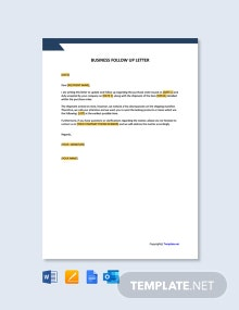 Free Business Follow Up Letter