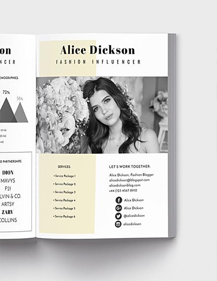 free fashion influencer media kit template download 28 media kits