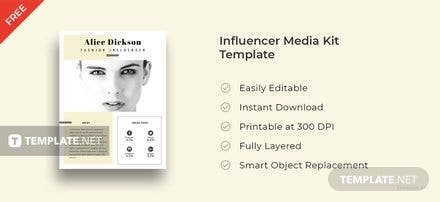 Free Influencer Media Kit Template