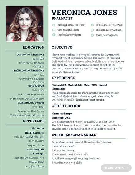 Resume for pharmacist sample student pharmacist resume templates.