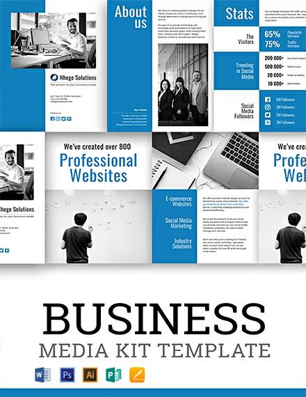 Free Business Media Kit Template