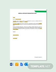 Free Medical Assistant Resignation Letter