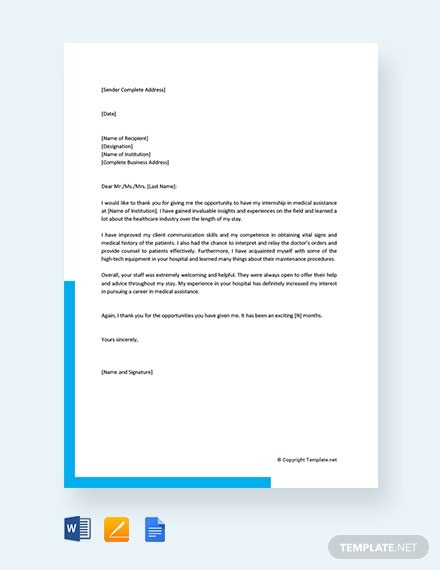 Free Internship Acceptance Thank You Letter Template Download 1440