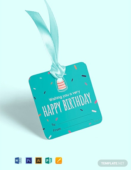 Free Happy Birthday Gift Label Template