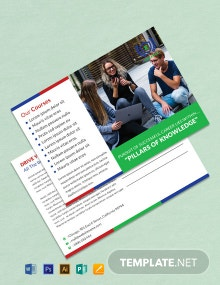 Free Education Postcard Template