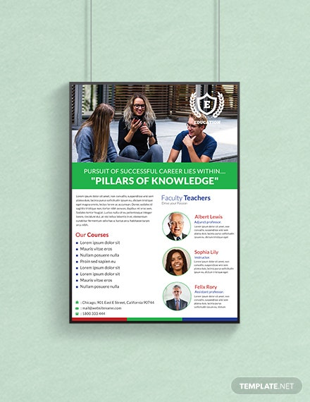 free education poster template in adobe photoshop illustrator