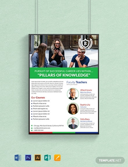 Free Education Poster Template