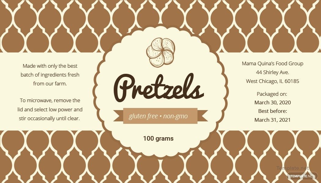free product label template in adobe photoshop  illustrator