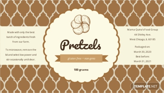 Printable Product Label Template