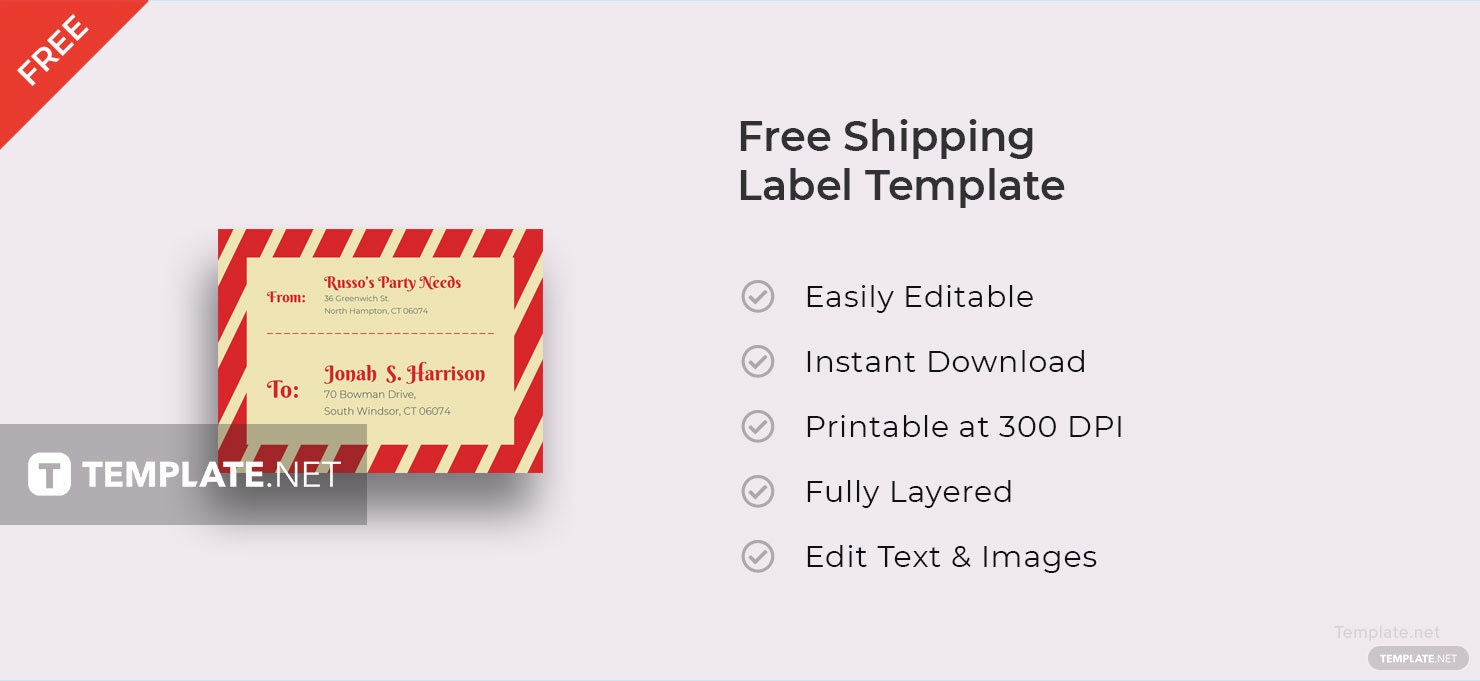 This is an image of Canny Free Shipping Label Template
