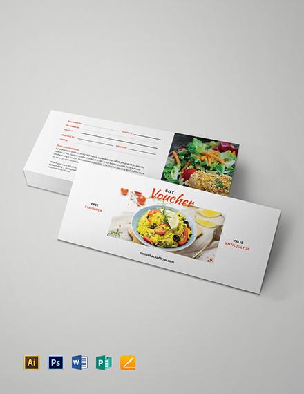Lunch Gift Voucher Download