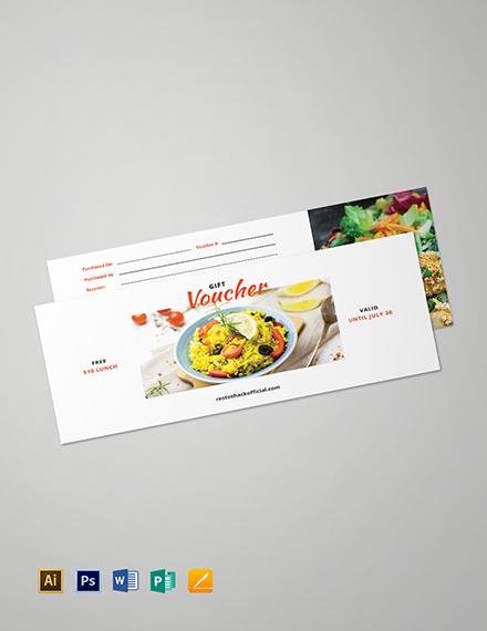 Sample Lunch Gift Voucher