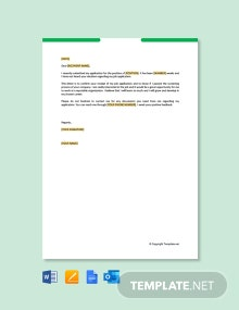 Free Follow Up Letter For Job Application Status