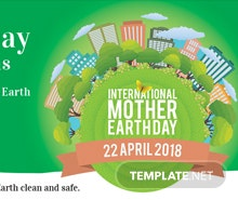 Free International Earth Day Facebook App Cover Template