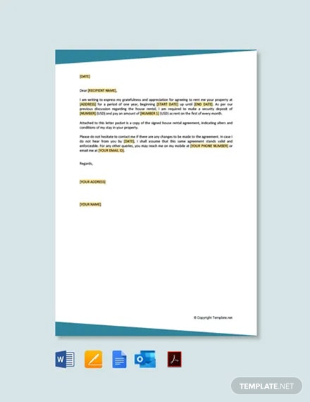 Free House Rental Agreement Letter