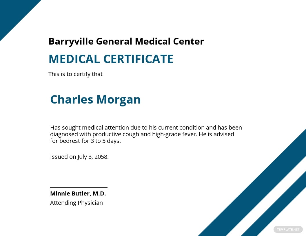 Medical Certificate Letter From Doctor