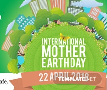 Free International Earth Day Facebook Cover Template