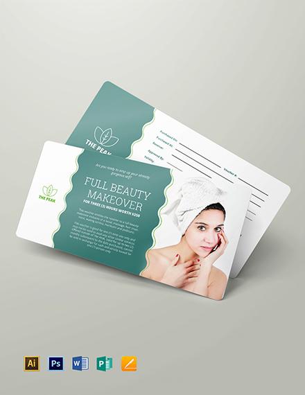 Massage Gift Voucher Download