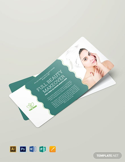 Massage Gift Voucher Template