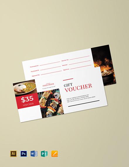 Sample Meal Gift Voucher
