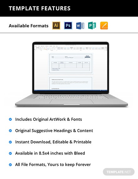 Editable Office Expense Voucher