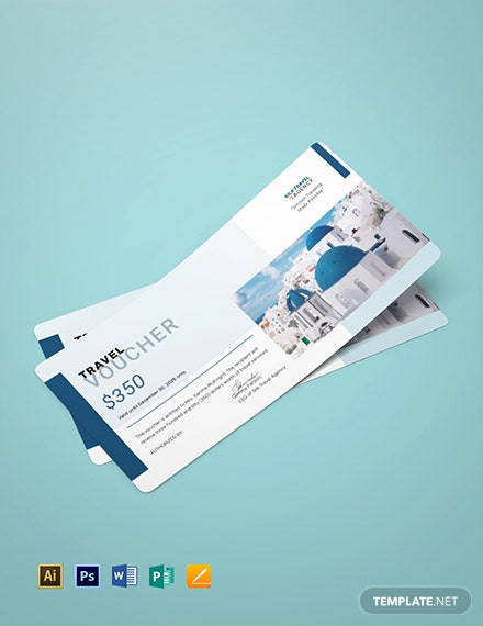 Travel Agency Voucher Template