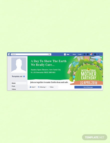 Free International Earth Day Facebook Event Cover Template