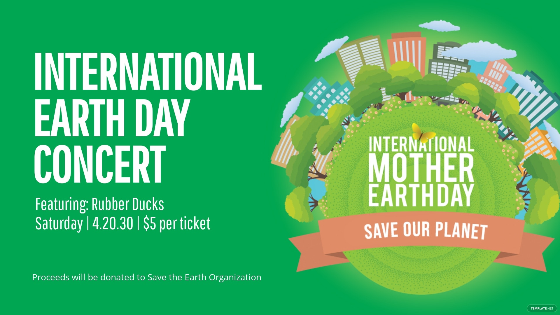 International Earth Day Facebook Event Cover Template