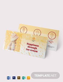 Ice Cream Coupon Template