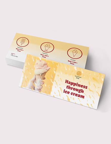 Sample Ice Cream Coupon