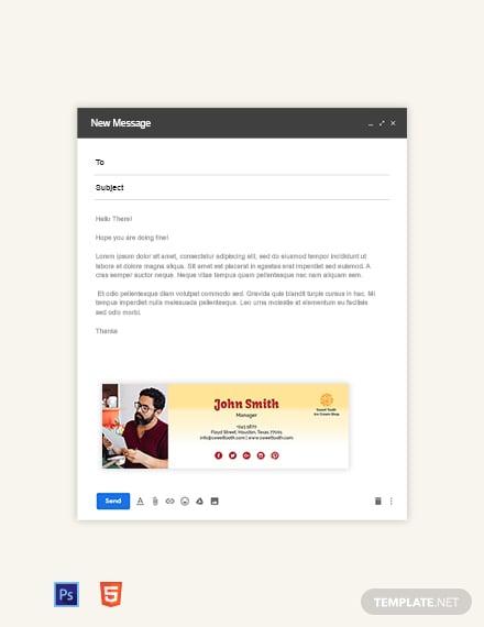 Ice Cream Email Signature Template