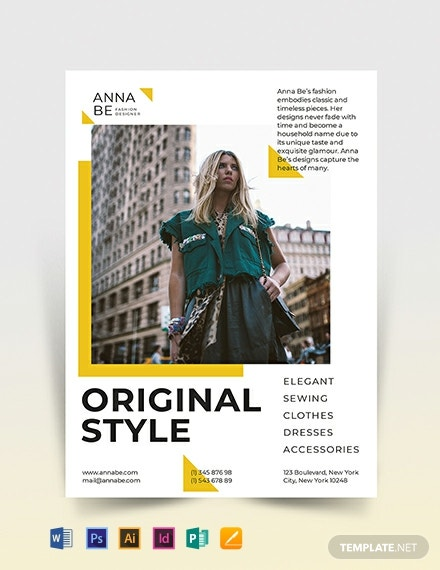 Fashion Designer Flyer Template