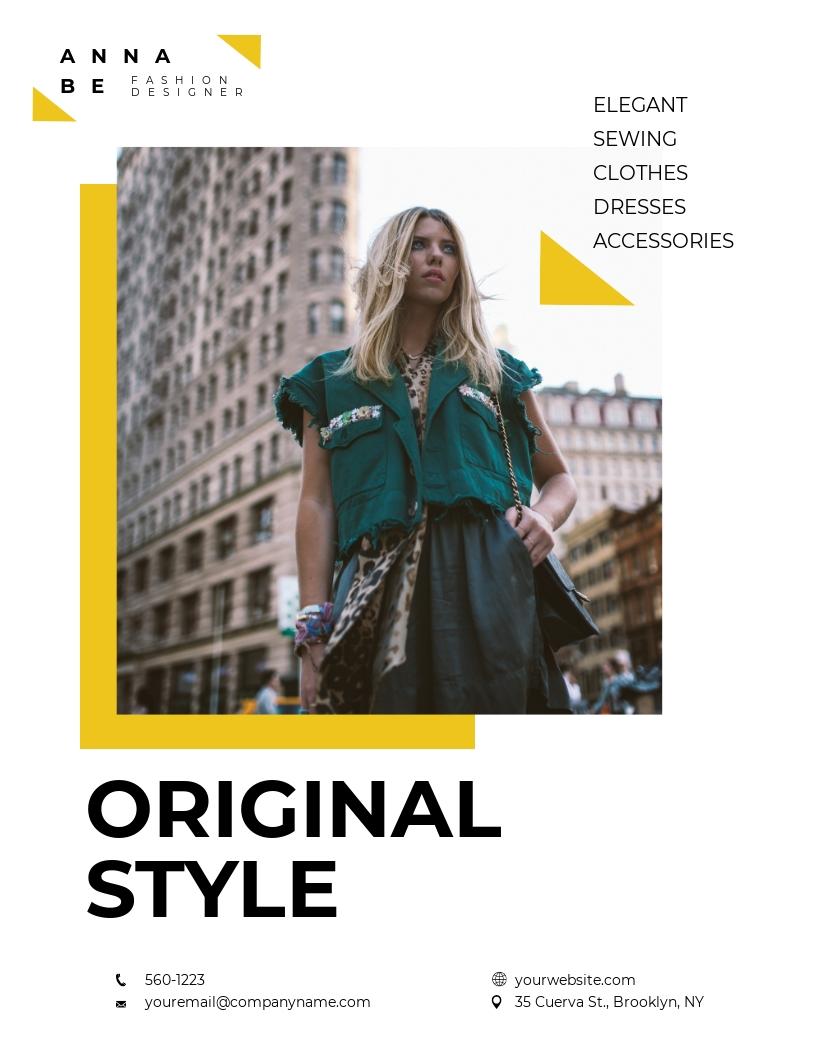 Fashion Designer Flyer Template