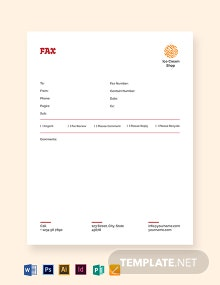 Ice Cream Fax Paper Template