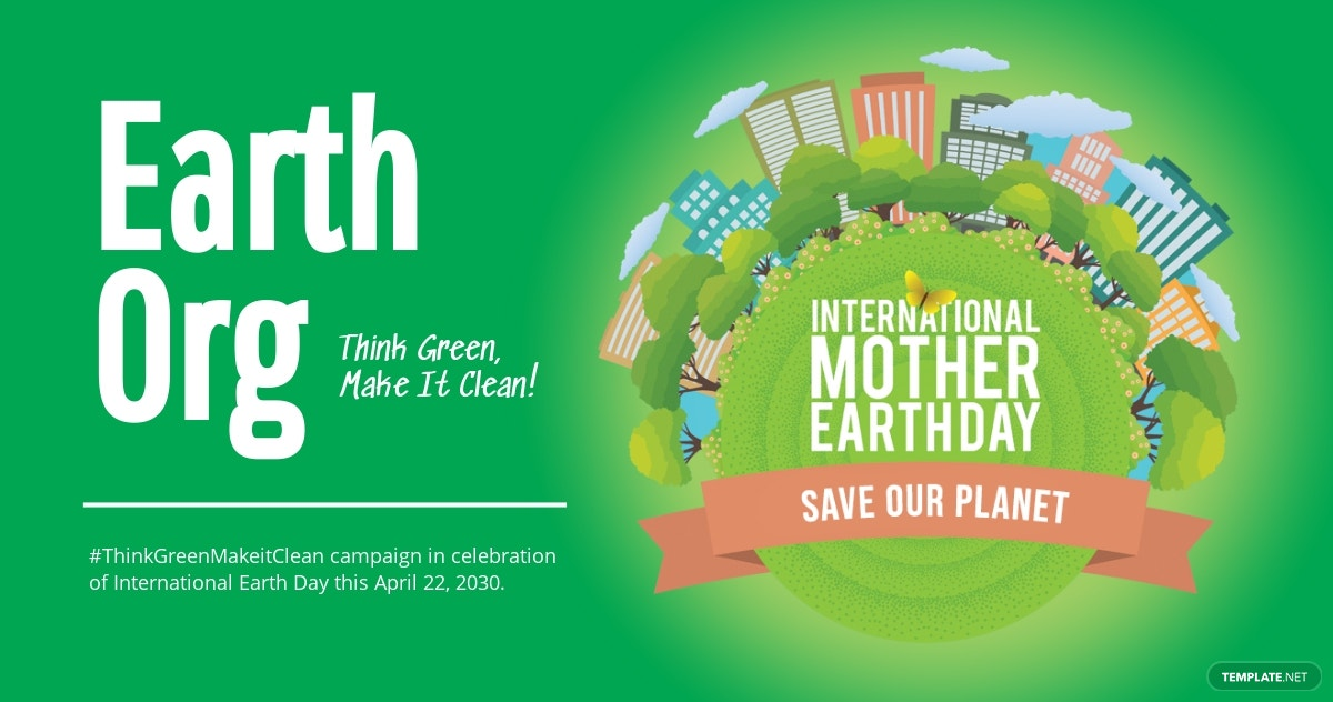 International Earth Day Facebook Post Template