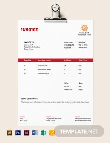 Ice Cream Invoice Template