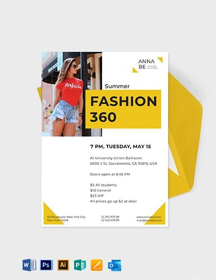 Fashion Designer Invitation Template