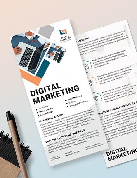 Sample Marketing Agency DL Card