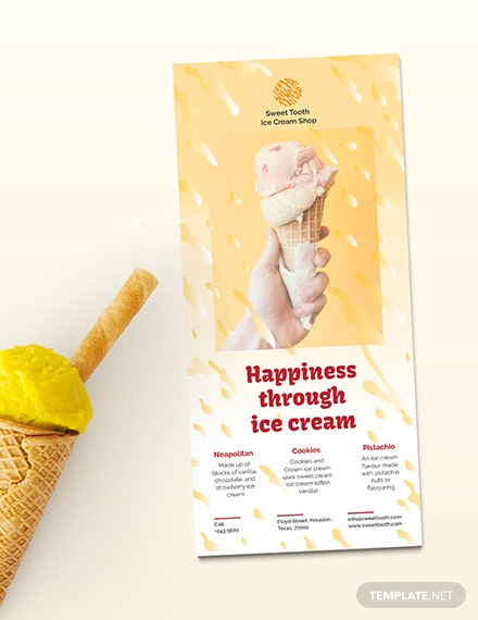Ice Cream Rackcard Template