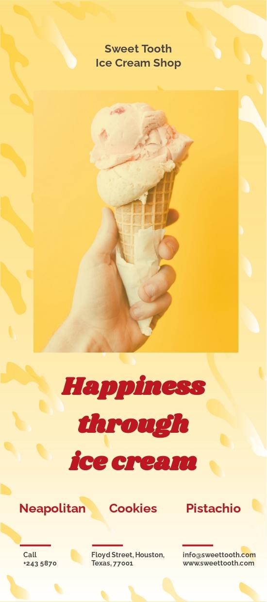 Ice Cream Rackcard Template