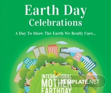Free International Earth Day Flyer Template